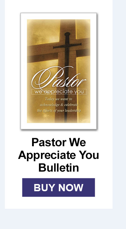 Pastor We Appreciate You Bulletin